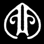Avatar size logo without type, white, black background